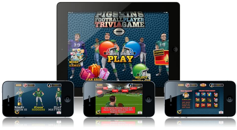 Pigskins Football Player Trivia Game für iOS und Android